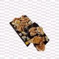 Chocolate artesano negro con nueces y naranja