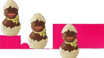 Figuras de chocolate en pasteleria polo